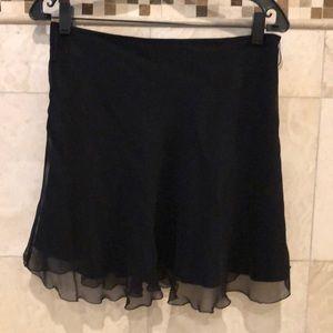Short flouncy sexy silk lined mini skirt